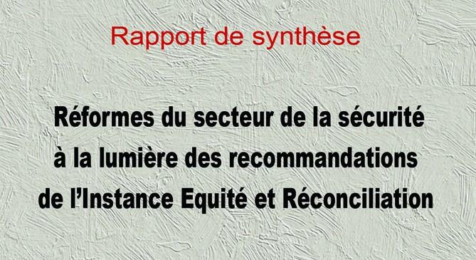 Gouvernance de sécurité et réforme du secteur à la lumière des recommandations de l'IER